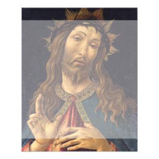 Cristo coronó con las espinas por Botticelli Tarjetas Publicitarias