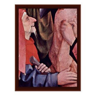Cristo coronó con las espinas. Por Hieronymus Bosc Tarjeta Postal