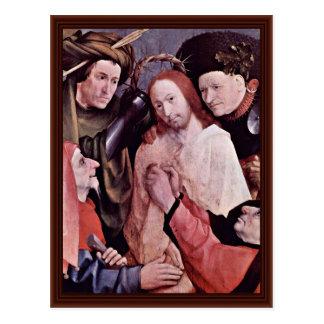 Cristo coronó con las espinas. Por Hieronymus Bosc Postal