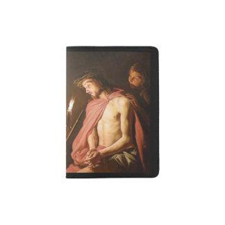 Cristo coronó con las espinas porta pasaporte