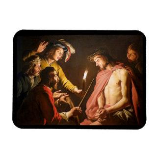 Cristo coronó con las espinas rectangle magnet