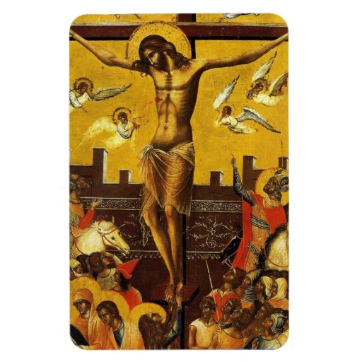 Cristo crucificó el imán flexible