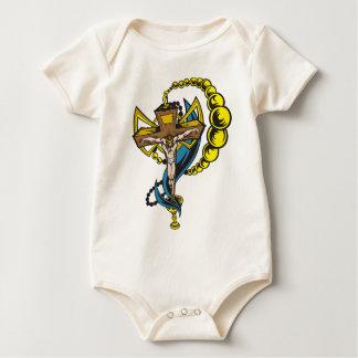 Cristo, crucifijo y taza mamelucos de bebé