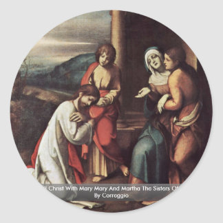 Cristo de despedida con Maria Maria y Martha Etiquetas