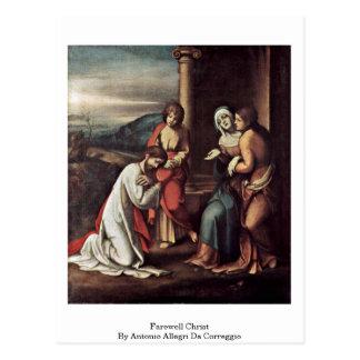 Cristo de despedida de Antonio Allegri DA Correggi Tarjeta Postal