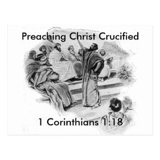 Cristo de predicación crucificó las postales