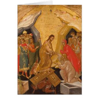 Cristo decente en Hades Tarjeta De Felicitación