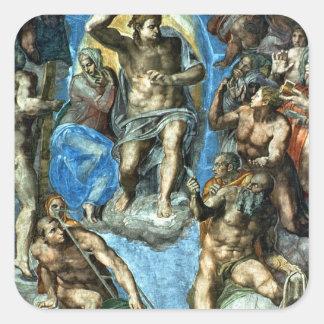 Cristo, detalle 'del Judgement pasado Pegatina Cuadrada
