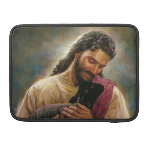 Cristo el buen pastor fundas para macbooks