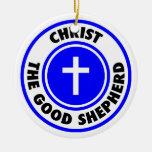 Cristo el buen pastor ornamento para reyes magos
