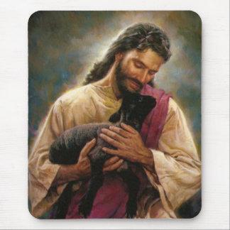 Cristo el buen pastor alfombrilla de ratón