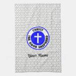 Cristo el buen pastor toalla de mano