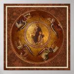 Cristo el icono del cristiano de Pantakrator Poster