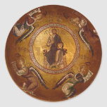 Cristo el icono del cristiano de Pantakrator Etiquetas Redondas