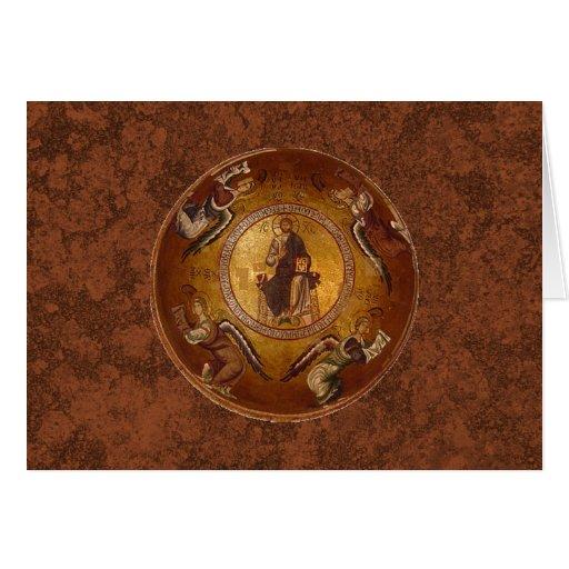 Cristo el icono del cristiano de Pantakrator Tarjeta De Felicitación