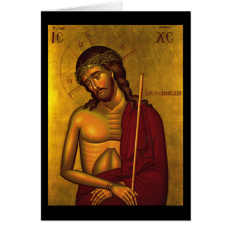 Cristo el icono del novio tarjeta de felicitación