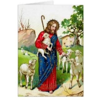 Cristo el pastor felicitación