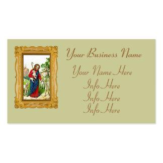 Cristo el pastor plantillas de tarjeta de negocio