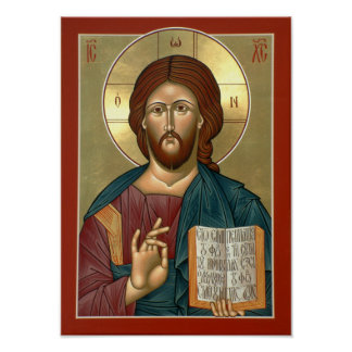 Cristo el poster del Luz-Donante