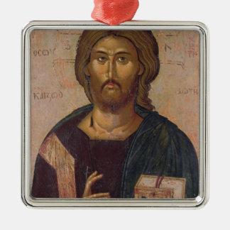 Cristo el redentor, fuente de la vida, c.1393-94 adorno navideño cuadrado de metal