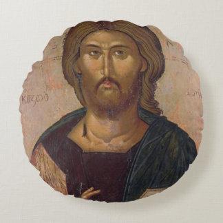 Cristo el redentor, fuente de la vida, c.1393-94 cojín redondo