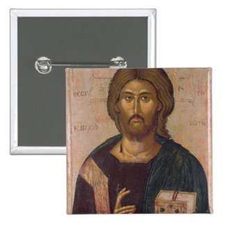 Cristo el redentor, fuente de la vida, c.1393-94 pin cuadrada 5 cm