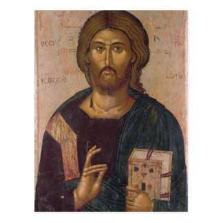 Cristo el redentor, fuente de la vida, c.1393-94 postal