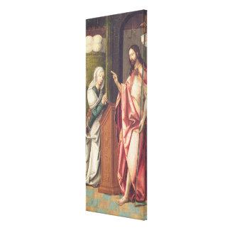 Cristo el redentor que bendice a una mujer (el pan lona estirada galerias