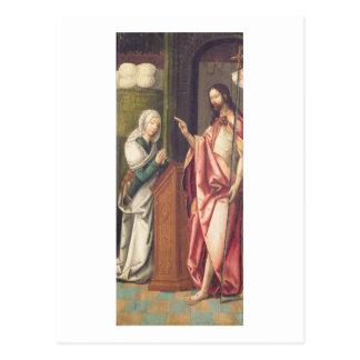 Cristo el redentor que bendice a una mujer (el postal