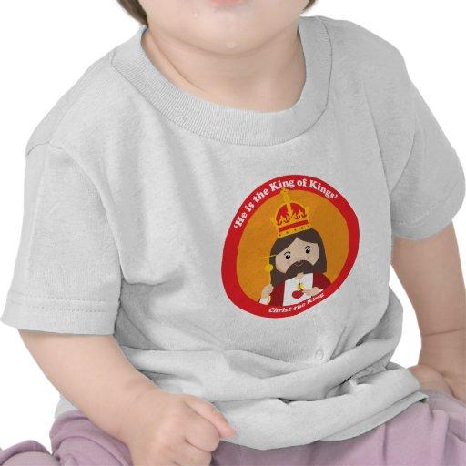 Cristo el rey camiseta
