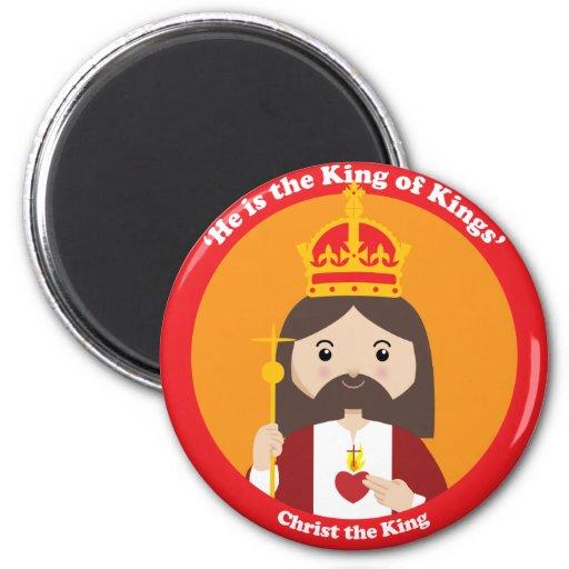 Cristo el rey imán redondo 5 cm