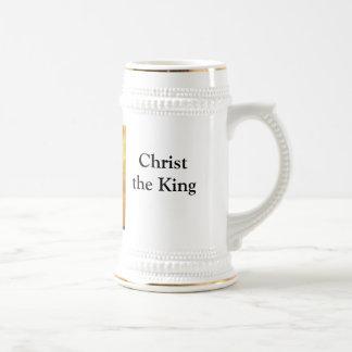 Cristo el rey Lisbpn en la puesta del sol Tazas