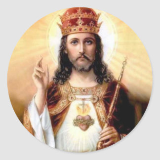 Cristo el rey pegatina redonda