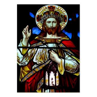 Cristo el rey Prayer Card Plantilla De Tarjeta Personal