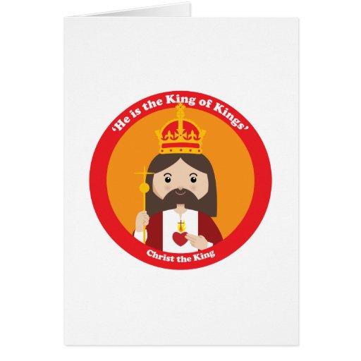Cristo el rey tarjeta de felicitación