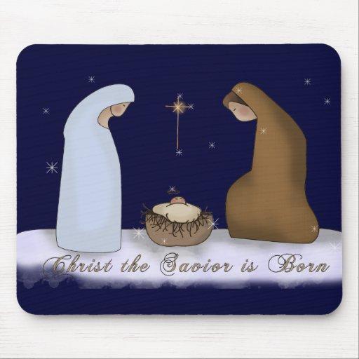 Cristo el salvador Mousepad