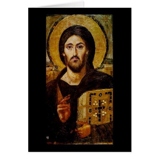 Cristo el salvador tarjeta de felicitación