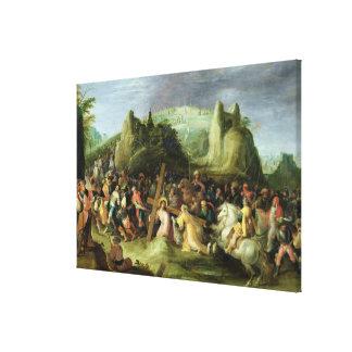 Cristo en el camino al Calvary Impresiones De Lienzo
