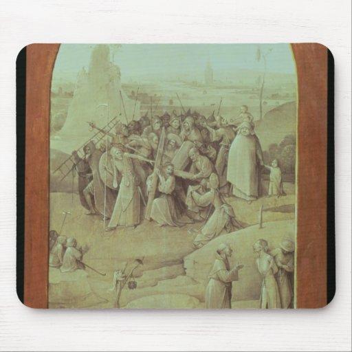 Cristo en el camino al Calvary Tapete De Ratones