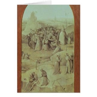 Cristo en el camino al Calvary Tarjeta De Felicitación