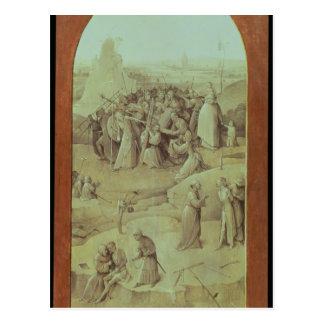 Cristo en el camino al Calvary Tarjeta Postal