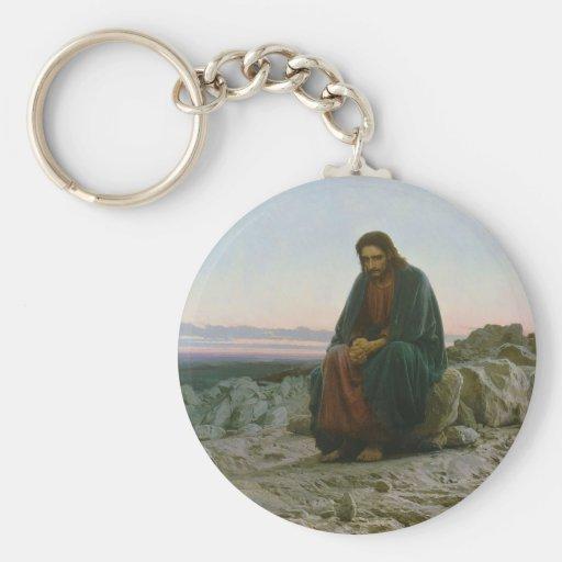 Cristo en el desierto de Ivan Nikolaevich Kramskoi Llavero