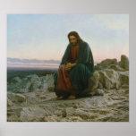 Cristo en el desierto de Ivan Nikolaevich Kramskoi Póster