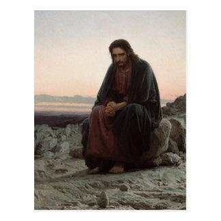 Cristo en el desierto postales