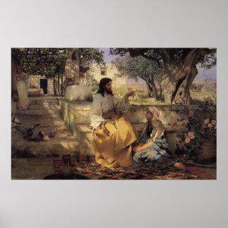 Cristo en el hogar de Martha y de Maria Poster