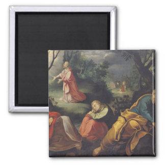Cristo en el jardín de aceitunas, 1625 imán cuadrado
