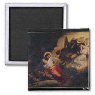Cristo en el jardín de aceitunas, 1827 imán cuadrado