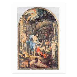 Cristo en el limbo, c.1530-35 (el panel) postales