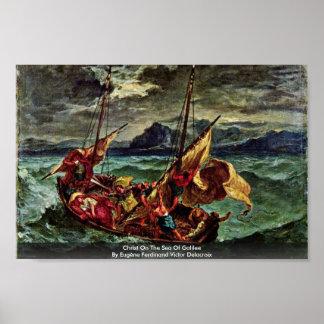 Cristo en el mar de Galilea Póster