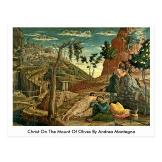 Cristo en el monte de los Olivos de Andrea Mantegn Tarjetas Postales